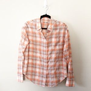 Elizabeth and James Plaid Button Down Shirt